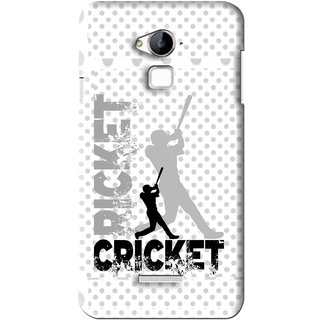 Snooky Printed Cricket Mobile Back Cover For Coolpad Dazen Note 3 - White