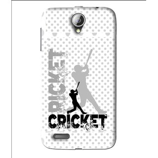Snooky Printed Cricket Mobile Back Cover For Lenovo A850 - White