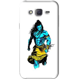 Snooky Printed Bhole Nath Mobile Back Cover For Samsung Galaxy J5 - White
