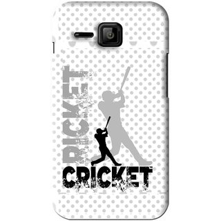 Snooky Printed Cricket Mobile Back Cover For Micromax Bolt S301 - White
