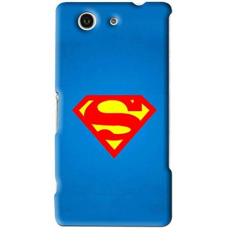 Snooky Printed Super Logo Mobile Back Cover For Sony Xperia Z4 Mini - Blue
