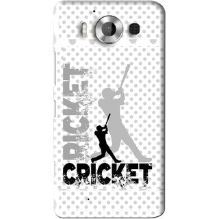 Snooky Printed Cricket Mobile Back Cover For Microsoft Lumia 950 - White