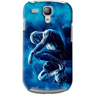 Snooky Printed Blue Hero Mobile Back Cover For Samsung Galaxy S3 Mini - Blue