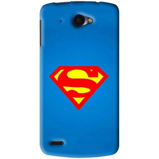 Snooky Printed Super Logo Mobile Back Cover For Lenovo S920 - Blue