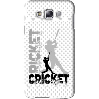 Snooky Printed Cricket Mobile Back Cover For Samsung Galaxy A5 - White