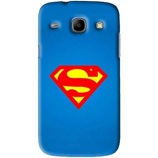 Snooky Printed Super Logo Mobile Back Cover For Samsung Galaxy 8262 - Blue