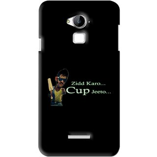 Snooky Printed World cup Jeeto Mobile Back Cover For Coolpad Dazen Note 3 - Black