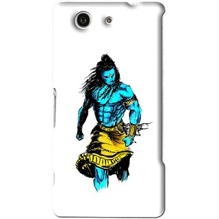 Snooky Printed Bhole Nath Mobile Back Cover For Sony Xperia Z4 Mini - White