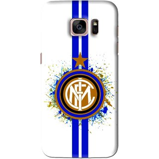 Snooky Printed Sports Lovers Mobile Back Cover For Samsung Galaxy S7 Edge - White