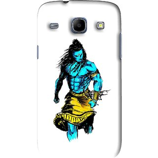Snooky Printed Bhole Nath Mobile Back Cover For Samsung Galaxy 8262 - White
