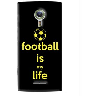 Snooky Printed Football Is Life Mobile Back Cover For Alcatel Flash 2 - Black