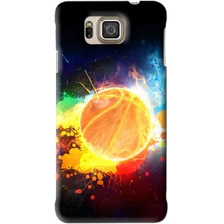 Snooky Printed Paint Globe Mobile Back Cover For Samsung Galaxy Alpha - Multi