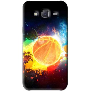 Snooky Printed Paint Globe Mobile Back Cover For Samsung Galaxy J5 - Multi