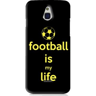 Snooky Printed Football Is Life Mobile Back Cover For Infocus M2 - Black