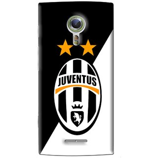 Snooky Printed Football Club Mobile Back Cover For Alcatel Flash 2 - Black