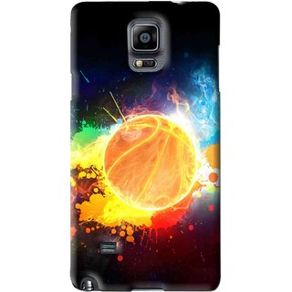 Snooky Printed Paint Globe Mobile Back Cover For Samsung Galaxy Note 4 - Multi
