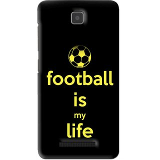 Snooky Printed Football Is Life Mobile Back Cover For Lenovo A1900 - Black