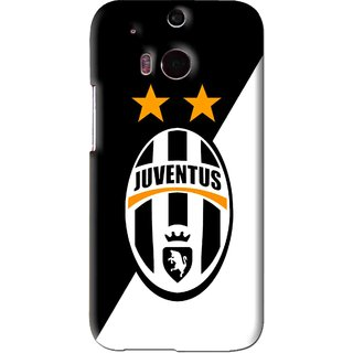 Snooky Printed Football Club Mobile Back Cover For HTC One M8 - Black