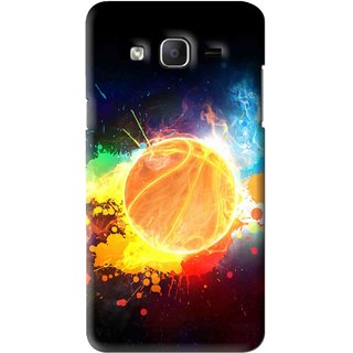 Snooky Printed Paint Globe Mobile Back Cover For Samsung Galaxy On5 - Multi