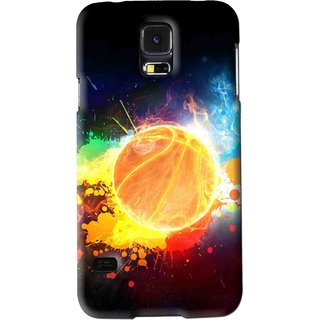 Snooky Printed Paint Globe Mobile Back Cover For Samsung Galaxy S5 - Multi