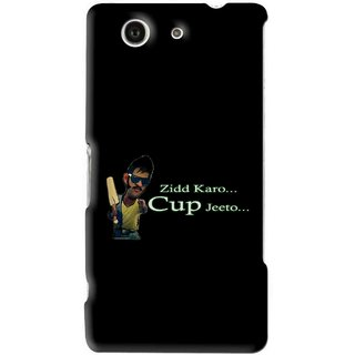 Snooky Printed World cup Jeeto Mobile Back Cover For Sony Xperia Z4 Mini - Black