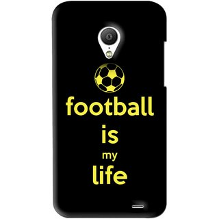 Snooky Printed Football Is Life Mobile Back Cover For Meizu MX3 - Black