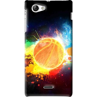 Snooky Printed Paint Globe Mobile Back Cover For Sony Xperia J - Multi