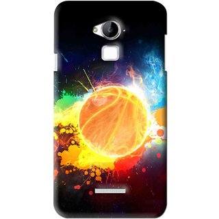 Snooky Printed Paint Globe Mobile Back Cover For Coolpad Dazen Note 3 - Multi