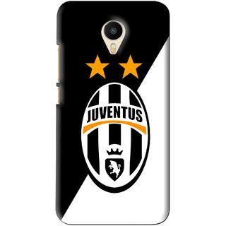 Snooky Printed Football Club Mobile Back Cover For Meizu M1 Metal - Black