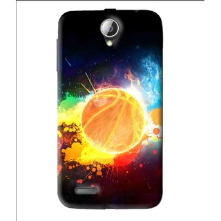 Snooky Printed Paint Globe Mobile Back Cover For Lenovo A850 - Multi
