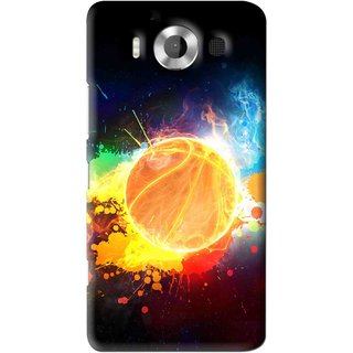 Snooky Printed Paint Globe Mobile Back Cover For Microsoft Lumia 950 - Multi