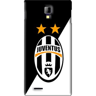 Snooky Printed Football Club Mobile Back Cover For Micromax Canvas Xpress A99 - Black