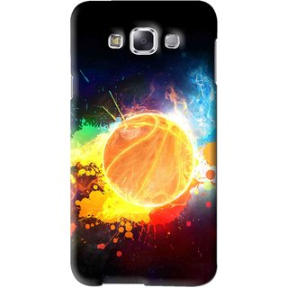 Snooky Printed Paint Globe Mobile Back Cover For Samsung Galaxy E7 - Multi