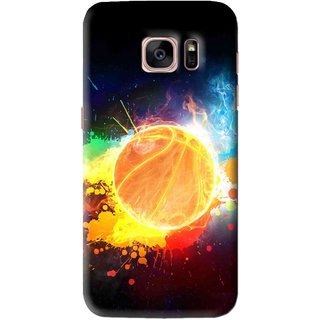 Snooky Printed Paint Globe Mobile Back Cover For Samsung Galaxy S7 Edge - Multi