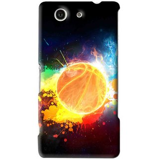 Snooky Printed Paint Globe Mobile Back Cover For Sony Xperia Z4 Mini - Multi