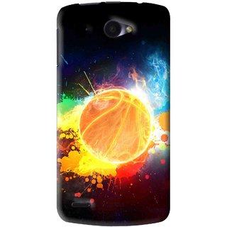Snooky Printed Paint Globe Mobile Back Cover For Lenovo S920 - Multi