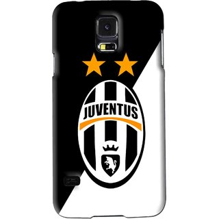 Snooky Printed Football Club Mobile Back Cover For Samsung Galaxy S5 - Black