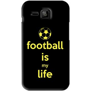Snooky Printed Football Is Life Mobile Back Cover For Micromax Bolt S301 - Black