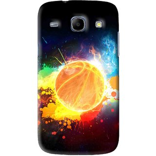 Snooky Printed Paint Globe Mobile Back Cover For Samsung Galaxy 8262 - Multi