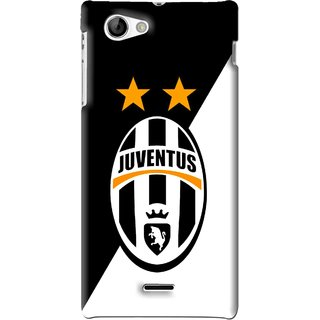 Snooky Printed Football Club Mobile Back Cover For Sony Xperia J - Black