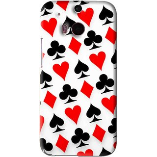 Snooky Printed Playing Cards Mobile Back Cover For HTC One M8 - Multi