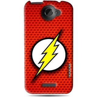 Snooky Printed Dont Touch Mobile Back Cover For HTC One X - Red