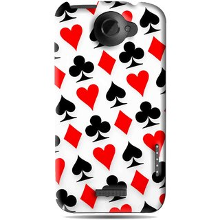 Snooky Printed Playing Cards Mobile Back Cover For HTC One X - Multi
