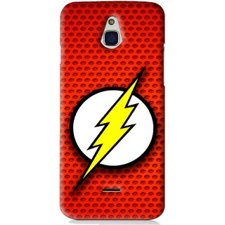 Snooky Printed Dont Touch Mobile Back Cover For Infocus M2 - Red