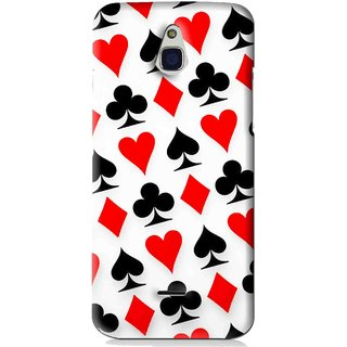 Snooky Printed Playing Cards Mobile Back Cover For Infocus M2 - Multi