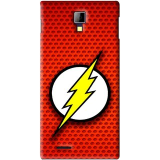 Snooky Printed Dont Touch Mobile Back Cover For Micromax Canvas Xpress A99 - Red