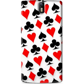 Snooky Printed Playing Cards Mobile Back Cover For OnePlus One - Multi