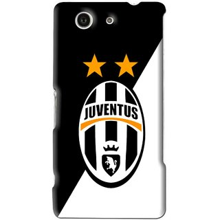 Snooky Printed Football Club Mobile Back Cover For Sony Xperia Z4 Mini - Black