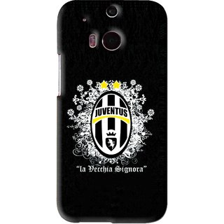 Snooky Printed Signora Mobile Back Cover For HTC One M8 - Black