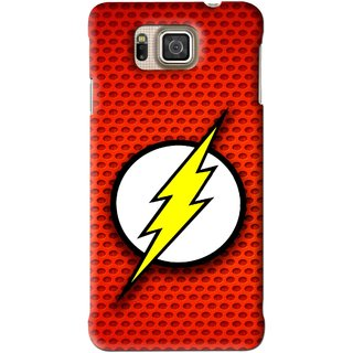 Snooky Printed Dont Touch Mobile Back Cover For Samsung Galaxy Alpha - Red